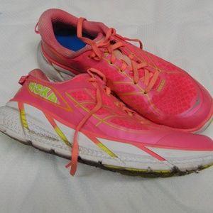 Hoka Clifton 2 Pink-Neon Running Shoes 9.5